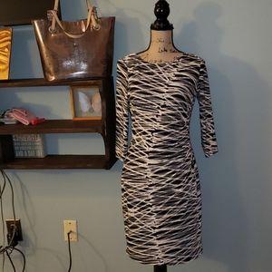 Anne Klein 3/4 Sleeve Sheath Midi Dress Size 8P